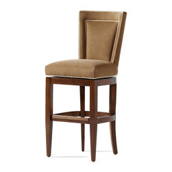 Jessica Charles - Colette Memory Swivel Bar Stool - Aiming to create a polished look at your breakfast bar? These cushy stools provide back support and swivel action to make your morning coffee a luxurious experience.