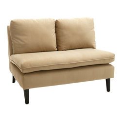 Great Deal Furniture - Cusseta Fabric Armless Loveseat - The Cusseta Loveseat is the perfect piece for any room in your home. With its clean lines and padded seat and backrest, the simplistic style make this loveseat extremely versatile. With lots of potential to dress it up or down, the Cusseta Loveseat will enhance your home in any room you choose to place it in.