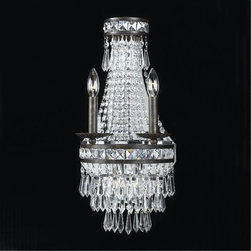 Crystorama - Crystorama-5262-Mercer - Two Light Wall Sconce - Our Mercer collection has all the angles covered. It is stunning no matter how you look at it. The metal work is as beautiful as the waterfall of crystal beads and faceted jewels that adorn it. From below, the metal forms a floral design, like something you might see in a stained glass window.