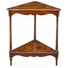 Tables Triangular Corner Lamp End Table by Theodore Alexander - Baer's Furniture