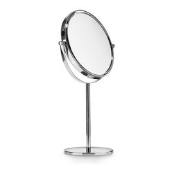 WS Bath Collections - Mevedo 55851 Magnifying Mirror 3X - Are you still putting on your makeup under the ugly glow of your bathroom's florescent lighting? There's a fix for that; it's this Italian-made brass and chrome magnifying makeup mirror. Place it on your bathroom counter, and prepare to get pretty.