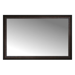 """Posters 2 Prints, LLC - 46"""" x 30"""" Tuscany Embossed Custom Framed Mirror - 46"""" x 30"""" Custom Framed Mirror made by Posters 2 Prints. Standard glass with unrivaled selection of crafted mirror frames.  Protected with category II safety backing to keep glass fragments together should the mirror be accidentally broken.  Safe arrival guaranteed.  Made in the United States of America"""