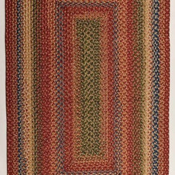 Homespice Decor - Braided Venetian Glass 6'x9' Rectangle Red-Yellow Area Rug - The Venetian Glass area rug Collection offers an affordable assortment of Braided stylings. Venetian Glass features a blend of natural Red-Yellow color. Machine Made of Olefin (polypropylene)  viscose  polyester the Venetian Glass Collection is an intriguing compliment to any decor.