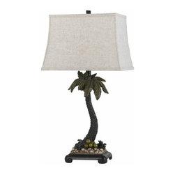 Cal Lighting - Cal Lighting BO-2486TB Malibu 1 Light Pedestal Base Table Lamp - Features: