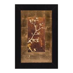 Bassett Mirror Company - Bassett Mirror Company Gold Leaf Branches I Framed Art - Gold Leaf Branches I Framed Art by Bassett Mirror Company Framed Art (1)