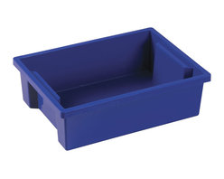 Ecr4kids - Ecr4Kids Classroom Rectangular Small Storage Organizer Plastic Bin Blue 20 Pack - Store everything you need in this extra large storage binStorage made attactive and easy Use these extra-deep, large storage bins with our trolley and classroom storage units. NoteColors may vary and are subject to change without notice.