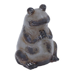 Benzara - Beautifully Designed Ceramic Frog in Cream and Brown Finish - Give your room a look of love and beauty in its most unique form. This ceramic frog is a striking addition to your home decor. Crafted to achieve a look of adorable excellence, this frog offers a soothing ambience to your room with its cream and brown finish. Made of the finest quality ceramic, this cute little frog offers long lasting durability a peppy appeal to your living space. Place this stylish ceramic frog in your living room or garden area, it is sure to attract lot of attention from your guests. Resistant to abrasion, you can use it to enhance your interior or outdoor decor as well. Perfect for any conventional or modern interior setup, this frog occupies a prominent place in your room. It is handy and can be carried anywhere with ease and forms an excellent gift idea for your loved ones.