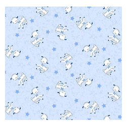 """SheetWorld - SheetWorld Fitted Crib / Toddler Sheet - Baby Lambs - Made in USA - This luxurious 100% cotton """"woven"""" crib / toddler sheet features the cutest pastel blue baby lamb print. Our sheets are made of the highest quality fabric that's measured at a 280 tc. That means these sheets are soft and durable. Sheets are made with deep pockets and are elasticized around the entire edge which prevents it from slipping off the mattress, thereby keeping your baby safe. These sheets are so durable that they will last all through your baby's growing years. We're called SheetWorld because we produce the highest grade sheets on the market today. Size: 28 x 52."""