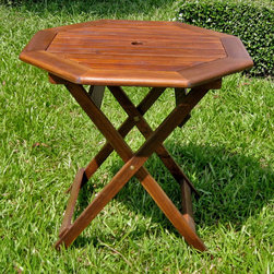 International Caravan - International Caravan Acacia 30-inch Octagonal Folding Table - Stylish and durable octagonal folding tableThe perfect addition to any patioTable is very easy to store and you can use it anywhere