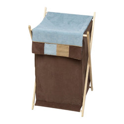 "Sweet Jojo Designs - Soho Blue Hamper - The Soho Blue Hamper by Sweet Jojo Designs will add a designers touch to any childs room. This childrens laundry clothes hamper has a wooden frame, mesh liner, and a fabric cover.The removable hamper body is secured to the wooden frame with corner loops and Velcro. The wooden stand folds flat for space-saving storage and the removable mesh liner is great for toting laundry.Dimensions: 15.5"" Length x 16"" Width x 26.5"" Height.If you like the Soho Blue Hamper Hamper, dont forget to check out the other items in the collection."