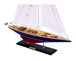 "Handcrafted Model Ships - Endeavour Limited 44"" - Wood Model Sailing Boat - Not a model ship kit"