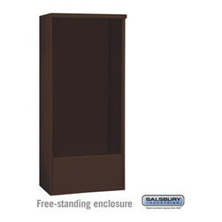 Salsbury Industries - Free-Standing Enclosure - for 3716 Double Column Unit - Bronze - Free-Standing Enclosure - for 3716 Double Column Unit - Bronze