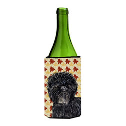 Caroline's Treasures - Affenpinscher Fall Leaves Portrait Wine Bottle Koozie Hugger - Affenpinscher Fall Leaves Portrait Wine Bottle Koozie Hugger Fits 750 ml. wine or other beverage bottles. Fits 24 oz. cans or pint bottles. Great collapsible koozie for large cans of beer, Energy Drinks or large Iced Tea beverages. Great to keep track of your beverage and add a bit of flair to a gathering. Wash the hugger in your washing machine. Design will not come off.