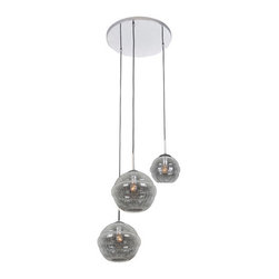 Kalco Lighting - Kalco Lighting 7577CH Celine 1 Light Foyer Pendants in Chrome - This 1 light Foyer Pendant from the Celine collection by Kalco Lighting will enhance your home with a perfect mix of form and function. The features include a Chrome finish applied by experts. This item qualifies for free shipping!