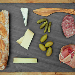 Slate Cheese Board - Whipping up a snack for last-minute entertaining would be a cinch with this sleek slate cheese board.