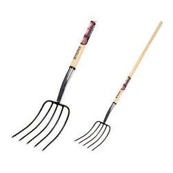 "Truper Tools - Tru-Pro Manure Fork - 5 Tines - Size: 54 "" (L)Professional grade, 5-tine manure fork with a 54"" L premium grade ash wood handle . Lifetime warranty."