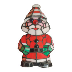 Dale Tiffany - Dale Tiffany TA100860 Happy Santa Accent Lamp - Shade: Hand Rolled Art Glass