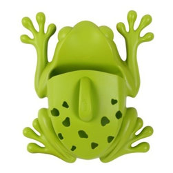 Boon Frog Pod - This popular bath toy storage unit is a hit for many reasons. It's super cute (frog in water — perfect!) and is also a removable scoop that can easily pick up bath toys in the water. The holes drain water, and the feet have suction cups to grip the bathtub wall. It's also PVC and phthalate-free and does not contain BPA.