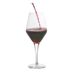BergHOFF Casa 16.9 oz. Red Wine Glass - Set of 6 - The BergHOFF Casa 16.9 oz. Red Wine Glass - Set of 6 are a set you'll find yourself reaching for every evening, whether it's just leftovers or a fancy dinner. Six glasses are included in this set, each featuring a generous 16.9-oz. capacity and a wide bowl to introduce oxygen and bring out the fullness of red wine flavor. Made from clear glass, these fit into any dishware set and let you appreciate your wine's flavor. The delicate glasses are not dishwasher safe, but are easy to hand-wash and dry.About BergHOFFA leader in innovation, style, and quality, BergHOFF International offers a full line of tabletop and kitchenware products that are backed by one of the best warranties in the industry. Their products are well respected for highest quality for value in the European and American promotional, retail, and foodservice sectors. Committed to offering affordable quality, BergHOFF relies on quality research and the work of their experienced in-house designers to give you cooking equipment that exhibits the perfect mix of timeless style, efficiency, and originality. Established in 1994, BergHOFF operates in 57 countries and is present on six continents, directing a worldwide network of agents and distributors form its world logistics headquarters in Belgium (Heusden-Zolder).