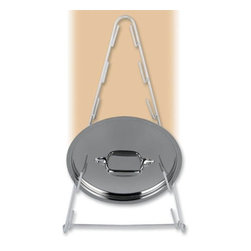 """Better Houseware Corp - Pot Lid Rack - Eliminate that messy stack of pot lids in your cupboard. Its impossibly frustrating to stack and unstack. It sounds ridiculous to tell you that this simple rack can make a huge difference but its true. Attach this to a wall or inside a base cabinet door. It holds a minimum of 6 lids and keeps them easily accessible. You will wonder how you ever managed without it. White wire.9""""w x 16 1/2h x 3 1/2d"""