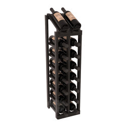 Wine Racks America - 2 Column 8 Row Display Top Kit in Redwood, Black Stain + Satin Finish - Display your best vintage while efficiently storing 16 wine bottles. This slim design is a perfect fit for almost any space. Our wine cellar kits are constructed to industry-leading standards. Display top wine racks are perfect for commercial or residential environments.