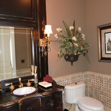 Traditional Powder Room by Designing Interiors Inc