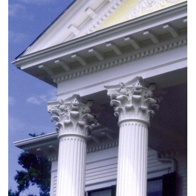 "Fluted, Round, Tapered Columns - Our round, tapered and fluted columns are a great way to bring a classic look to your home. Our fluted round columns are cast fluted, resulting in a crisp, deep and architecturally correct Ionic flute. Fluted columns are available in a wide range of sizes from 6"" through 16"" diameter. The columns are a composition of cast glass-reinforced polymers with exceptional strength and durability."