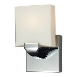 Joshua Marshal - One Light Chrome Bathroom Sconce - One Light Chrome Bathroom Sconce