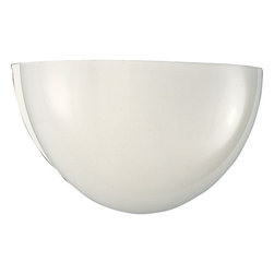 Progress Lighting - Incandescent Glass Wall Sconces Collection White 1-Lt. sconce with White glass - Style: Contemporary/Modern Finish: White Size: 11-1/2 In. W. x 5 In. ht. Shade/Glass: White glass Lamp: one Medium Base lamp 100w max. UL Listed: Yes UL-CUL 120 volt