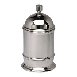 Cyan Design - Cyan Design Large Ceramic Canister X-72320 - This Cyan Design kitchen canister is designed with classic curvature and simple but visually appealing details. The cylindrical finial has been paired with clean beveling on this large ceramic canister. To complete the look, it also features a stunning Chrome finish.