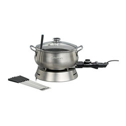Cuisinart Electric Fondue Set - Do you fondue? We do! We love the idea of encouraging your guests to get to know each other better over this classic fondue pot. And we are pretty sure just about anything tastes good covered in chocolate.