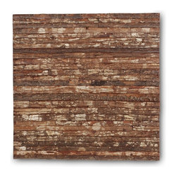 Jeffan Wooden Bark Wall Display - This bark wall display is the perfect way to get the look of reclaimed wood without the mess and effort of creating it yourself.