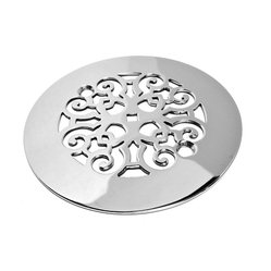 Designer Drains - Classic Scrolls No. 4 Shower Drain - Make every inch of your shower elegant, right down to the drain. With lovely interlocking scrollwork in polished stainless steel, this delightful drain proves that functional can still be fetching. Drain sizes vary. Please measure carefully before ordering.