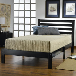 Hillsdale - Aiden Twin Bed - Hillsdale Furnitures transitional Aiden platform bed is perfect for a kids, teen or students room. A simple ladder back headboard and clean platform make this an easy fit into most decors. No frame necessary, this bed comes complete with everything you will need. Constructed from hardwood and wood composites. Assembly required. Features: -Hardwood and wood composites. -Ladder headboard. -Transitional design.