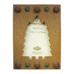 WL - 4 x 6 Inch Decorated Handcrafted Pine Tree Frame Holding Photograph - This gorgeous 4 x 6 Inch Decorated Handcrafted Pine Tree Frame Holding Photograph has the finest details and highest quality you will find anywhere! 4 x 6 Inch Decorated Handcrafted Pine Tree Frame Holding Photograph is truly remarkable.