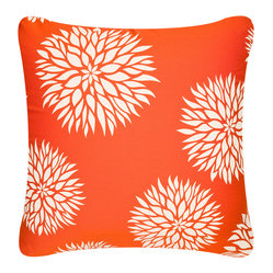 Dahlia Eco Pillow, Cream/Tangerine, With Insert
