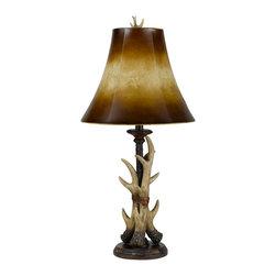 Cal Lighting - Cal Lighting BO-2068 Table 100 W Resin Buckhorn  Table Lamp - 100W Resin Buckhorn Table Lamp