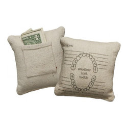 Vintage Sack Pillow - Another Lost Tooth - A convenient way to leave money from the tooth fairy!