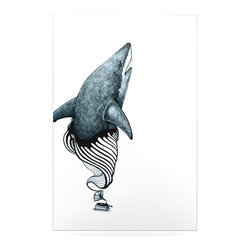 """Kess InHouse - Graham Curran """"Shark Record"""" Metal Luxe Panel (16"""" x 20"""") - Our luxe KESS InHouse art panels are the perfect addition to your super fab living room, dining room, bedroom or bathroom. Heck, we have customers that have them in their sunrooms. These items are the art equivalent to flat screens. They offer a bright splash of color in a sleek and elegant way. They are available in square and rectangle sizes. Comes with a shadow mount for an even sleeker finish. By infusing the dyes of the artwork directly onto specially coated metal panels, the artwork is extremely durable and will showcase the exceptional detail. Use them together to make large art installations or showcase them individually. Our KESS InHouse Art Panels will jump off your walls. We can't wait to see what our interior design savvy clients will come up with next."""