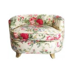 Classic Dog Sofa Bed, English Garden, Tea - This is the first piece of pet furniture I've seen that can actually enhance your decor. It's custom upholstered in your choice of cotton fabric to match your room, and the wooden legs are painted to coordinate with the fabric. The English Garden fabric, as shown, is a lovely and bright floral cotton that would be perfect near a bay window with cream gauzy drapes. Clean paws are a must, though.