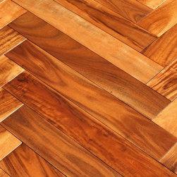 "Elegance Plyquet - Acacia Golden Sagebrush Herringbone- Sample 8"" x 3"", Herringbone Golden Sagebrus - This listing is for 2 piece of wood floor samples (8"" x 3"")"
