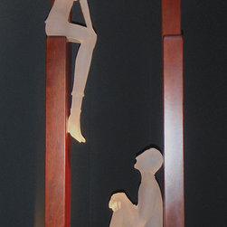 Art glass sculpture-CONVERSATION...4 -