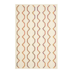 """Safavieh - Talita Indoor/Outdoor Rug, Natural / Multi 6'7"""" X 9'6"""" - Construction Method: Power Loomed. Country of Origin: Eqypt. Care Instructions: Easy To Clean. Just Rinse With A Garden Hose.."""
