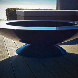 """48"""" Stainless Steel Bowl with Bronze Finish - Stainless Steel Fire Bowl"""