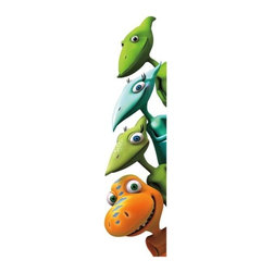 RoomMates Peel & Stick - Dinosaur Train Giant Wall Decals - Who's that peeking around the corner of your child's room? These giant wall decals of buddy, tiny, shiny and don will help make your child's bedroom a truly fun place to be! Just place these wall decals in any corner to bring their favorite dinosaur train friends into their space. The additional decals can be placed on any smooth surface, including walls, windows, doors, and furniture. A great addition to any dinosaur train or dinosaur-themed room!