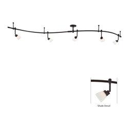 George Kovacs - P4216-467 5 Light Track 8 3/4Hx3W 5 Heads Rail Light Sable Bronze Patina W/ Etch - Product
