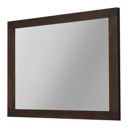 Macral - Nordico Wall Mirror - Everyone knows that reflection creates a sense of space, and you'll love the way this solid wood framed mirror really opens up your room. This glazed walnut finished framed crystal mirror will fit right in to either your bathroom or above the armoire in your bedroom.