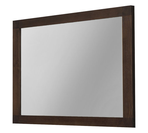 "Macral - 40"" Nordico Wall-Framed Mirror. Solid Wood. Walnut - Everyone knows that reflection creates a sense of space, and you'll love the way this solid wood framed mirror really opens up your room. This glazed walnut finished framed crystal mirror will fit right in to either your bathroom or above the armoire in your bedroom."