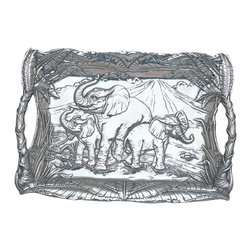 Arthur Court - Elephant Clutch Tray - Arthur court has an untarnished reputation for beautiful and practical serving pieces. Your new clutch tray, for example, won't need polishing — just washing with mild soap and water. That means when you need it, it's always ready to serve.