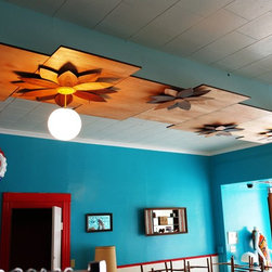 Installation in Pilsen Boutique - Ceiling installation at vintage boutique, Revival A Go-Go